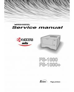 KYOCERA LaserPrinter FS-1000 1000+ Service Manual
