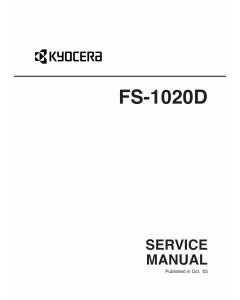 KYOCERA LaserPrinter FS-1020D Service Manual