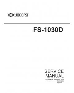 KYOCERA LaserPrinter FS-1030D Parts and Service Manual