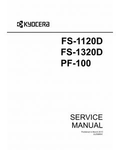 KYOCERA LaserPrinter FS-1120D FS-1320D PF-100 Parts and Service Manual