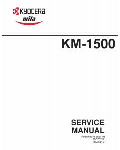 KYOCERA LaserPrinter FS-1500 Parts and Service Manual