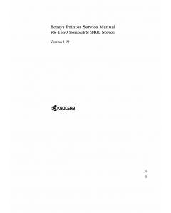 KYOCERA LaserPrinter FS-1550-Series 3400-Series Parts and Service Manual