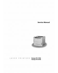 KYOCERA LaserPrinter FS-1750 3750 Parts and Service Manual