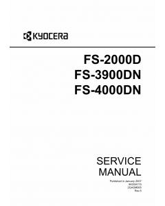 KYOCERA LaserPrinter FS-2000D 3900DN 4000DN Service Manual