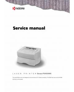 KYOCERA LaserPrinter FS-600 680 Parts and Service Manual
