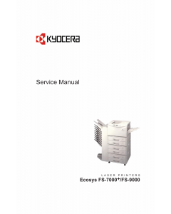 KYOCERA LaserPrinter FS-7000+ 9000 Service Manual