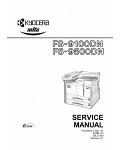 KYOCERA LaserPrinter FS-9100DN 9500DN Service Manual
