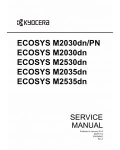 KYOCERA MFP ECOSYS-M2030dn M2530dn M2035dn M2535dn Service Manual