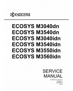 KYOCERA MFP ECOSYS-M3040dn M3540dn M3550idn M3560idn Service Manual