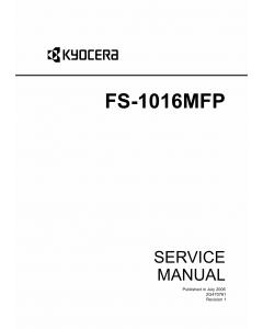 KYOCERA MFP FS-1016MFP Parts and Service Manual