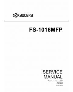 KYOCERA MFP FS-1016MFP Service Manual