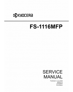 KYOCERA MFP FS-1116MFP Service Manual