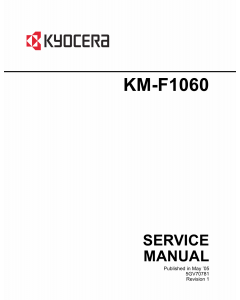 KYOCERA MFP KM-F1060 Parts and Service Manual
