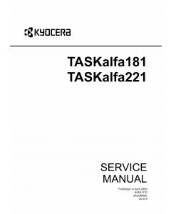 KYOCERA MFP TASKalfa-181 221 Service Manual