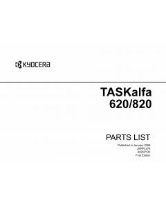 KYOCERA MFP TASKalfa-620 820 Parts Manual