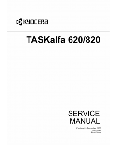 KYOCERA MFP TASKalfa-620 820 Parts and Service Manual