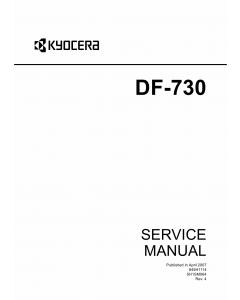 KYOCERA Options Document-Feeder DF-730 KM-C2525E C3225E C3232E C4035E Service Manual