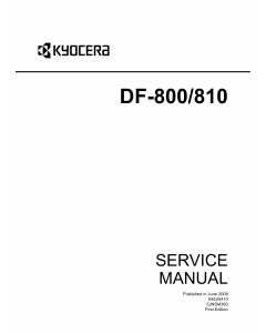 KYOCERA Options Document-Feeder DF-800 810 for-550c-650c-750c Service Manual