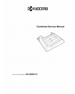 KYOCERA Options Duplexer-DU-30 31 Parts and Service Manual