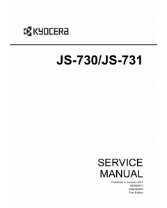 KYOCERA Options Job-Separator-JS-730 731 TASKalfa-3500i 4500i 5500i Service Manual