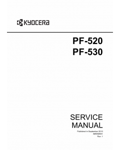 KYOCERA Options Paper-Feeder-PF-520 PF-530 Parts and Service Manual