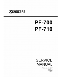 KYOCERA Options Paper-Feeder-PF-700 710 KM-C2525E C3225E C3232E C4035E Service Manual