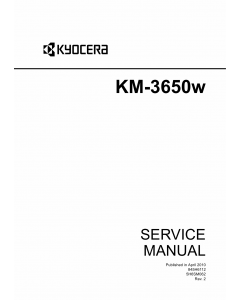 KYOCERA WideFormat KM-3650w Service Manual