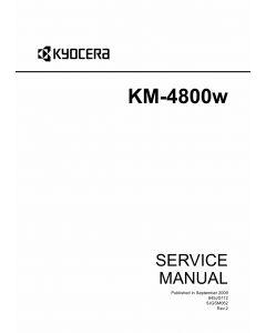 KYOCERA WideFormat KM-4800w Service Manual