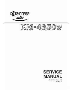 KYOCERA WideFormat KM-4850w Service Manual