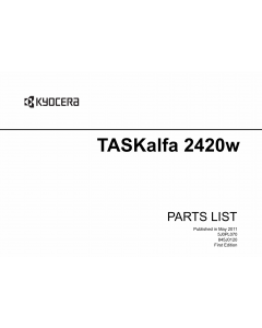KYOCERA WideFormat TASKalfa-2420w Parts Manual