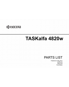 KYOCERA WideFormat TASKalfa-4820w Parts Manual