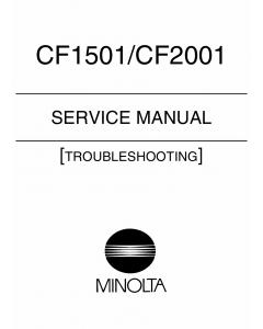 Konica-Minolta MINOLTA CF1501 2001 TROUBLESHOOTING Service Manual