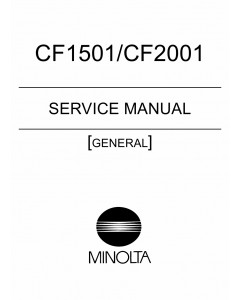 Konica-Minolta MINOLTA CF1501 CF2001 GENERAL Service Manual
