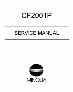 Konica-Minolta MINOLTA CF2001P Service Manual