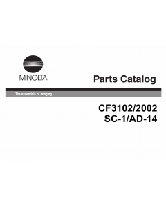 Konica-Minolta MINOLTA CF2002 3102 Parts Manual