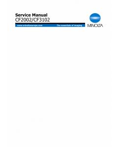 Konica-Minolta MINOLTA CF3102 CF2002 Service Manual
