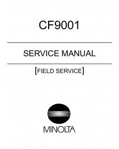 Konica-Minolta MINOLTA CF9001 FIELD-SERVICE Service Manual