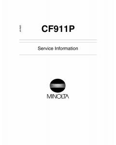 Konica-Minolta MINOLTA CF911P Service Manual