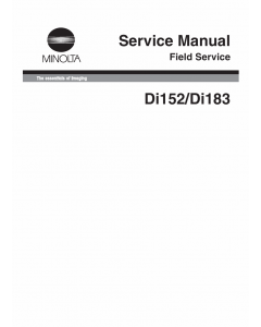 Konica-Minolta MINOLTA Di152 Di183 FIELD-SERVICE Service Manual