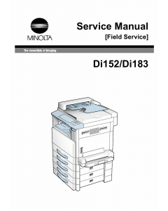 Konica-Minolta MINOLTA Di152 Di183 Service Manual