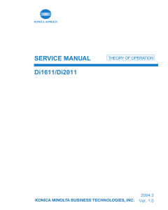Konica-Minolta MINOLTA Di1611 Di2011 THEORY-OPERATION Service Manual