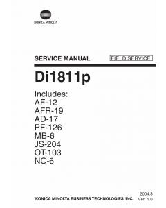 Konica-Minolta MINOLTA Di1811p FIELD-SERVICE Service Manual