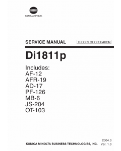 Konica-Minolta MINOLTA Di1811p THEORY-OPERATION Service Manual