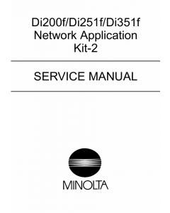 Konica-Minolta MINOLTA Di200f Di251f Di351f Network-Application Service Manual