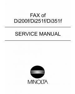 Konica-Minolta MINOLTA Di200f Di251f Di351f Service Manual