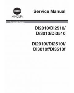 Konica-Minolta MINOLTA Di2010 f Di2510 f Di3010 f Di3510 f Service Manual
