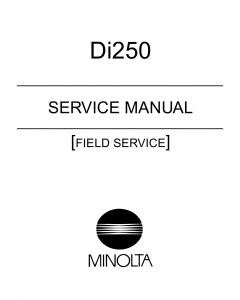Konica-Minolta MINOLTA Di250 FIELD-SERVICE Service Manual