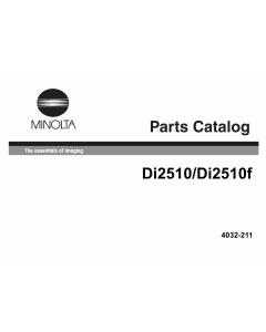Konica-Minolta MINOLTA Di2510 Di2510f Parts Manual