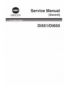 Konica-Minolta MINOLTA Di551 Di650 GENERAL Service Manual