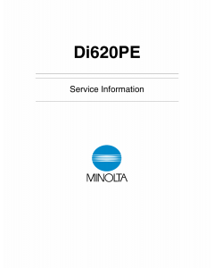 Konica-Minolta MINOLTA Di620PE Service Manual